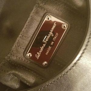 Salvatore Ferragamo Black Leather Bag Italy